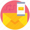 communication, email, letter, mail, message, sync icon
