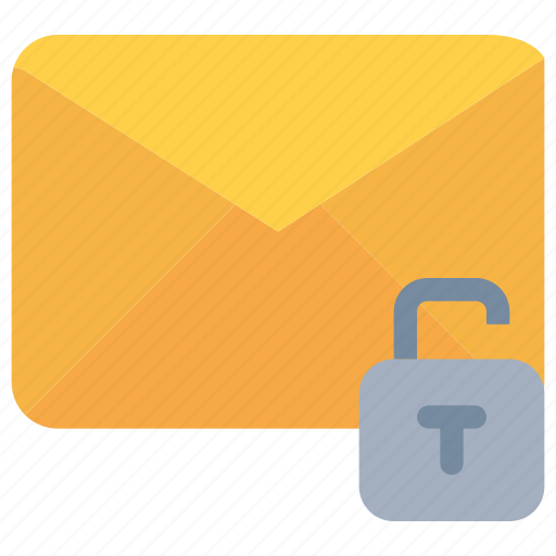 email, letter, mail, message, padlock, secure, security icon