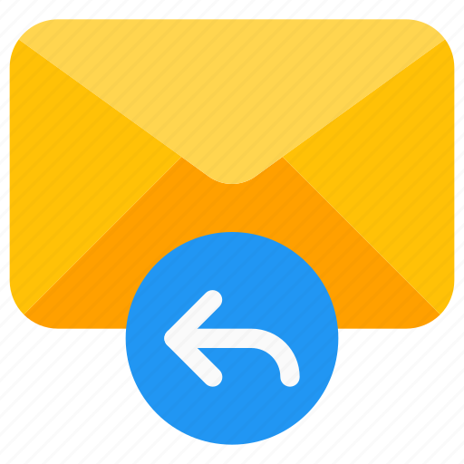 arrow, email reply, envelope, inbox, message, response, thread icon