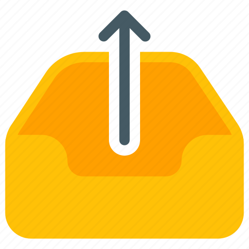 Arrow, email, mailbox, message, tray, upload, upwards icon - Download on Iconfinder