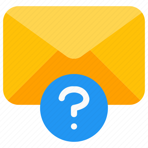 communication, email, envelope, mailbox, message, questionmark, unknown icon