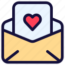 email, envelope, letter, love, mail, message, paper icon