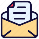 email, envelope, letter, mail, message, paper icon