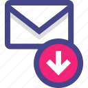 download, email, envelope, message icon
