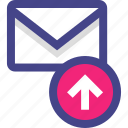 email, envelope, message, send, sent icon