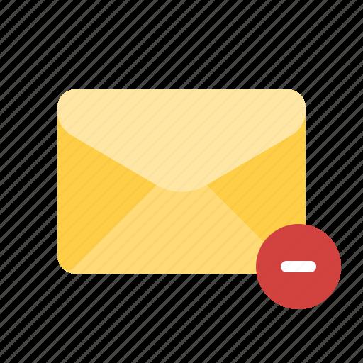 delete, exclude, mail, remove icon