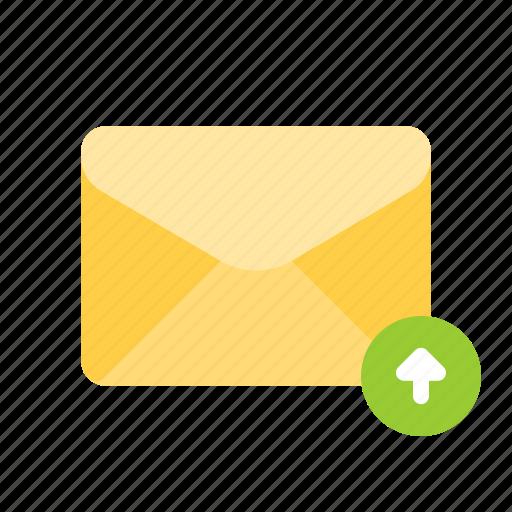 backup, mail, update, upload icon