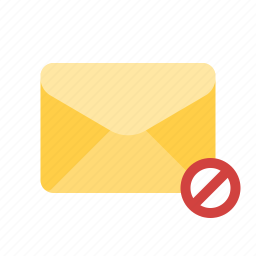 block, cancel, filter, mail icon