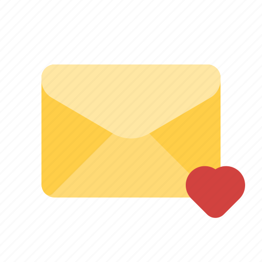 favorite, heart, love, mail icon
