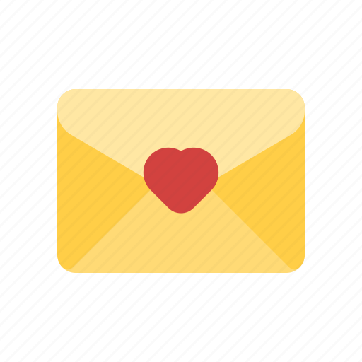 favorite mail, love letter, love mail, wedding invitation icon