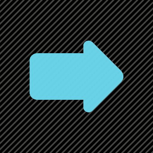 arrow, forward, resend, share icon
