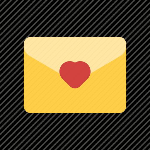 favorite mail, love letter, love mail, wedding invitation icon
