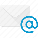 at, email, envelope, mail, message icon