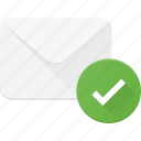 check, email, envelope, mail, message icon