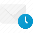 delay, email, envelope, mail, message, time icon