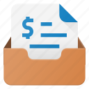 email, envelope, inbox, invoice, mail, message icon