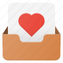 email, envelope, favorite, inbox, love, mail, message icon