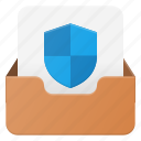 email, envelope, mail, message, protect icon