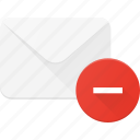 email, envelope, mail, message, remove icon