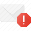 email, envelope, mail, message, spam icon