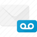 email, envelope, mail, message, voice icon