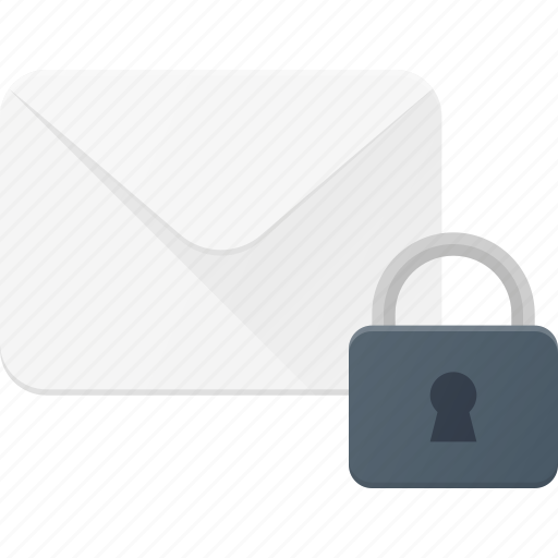 email, envelope, lock, mail, message icon
