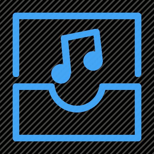 audio, communication, inbox, interaction, media, multimedia, music icon