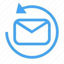 communication, conversation, email, mail, message, reload, sync icon