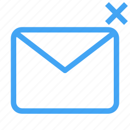 cancel, communication, email, envelope, letter, mail, message icon