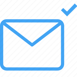 check, communication, email, envelope, interaction, letter, message icon