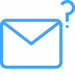 communication, email, envelope, letter, message, messgae, question icon