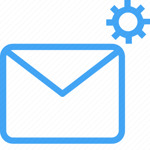 communication, email, letter, mail, message, process, settings icon