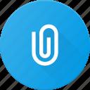 attache, attachment, clip, mail, office, paper icon