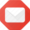 allert, attention, email, fiter, mail, spam icon