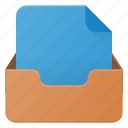 document, inbox, set icon