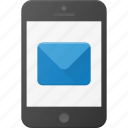email, message, mobile, phone, smartphone icon