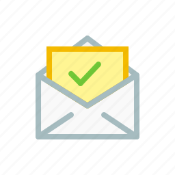 email, envelope, mail, right, true, verified, verify icon