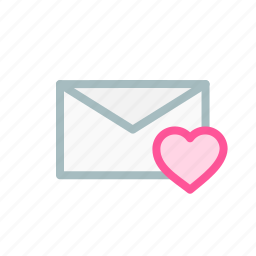 email, heart, like, love, mail, message, newsletter icon