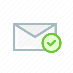 email, envelope, inbox, mail, message, true, verify icon