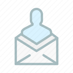 email, inbox, letter, mail, man, people, person icon