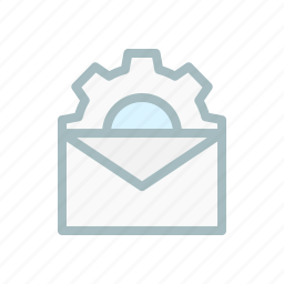 configuration, email, gear, mail, message, setting, settings icon