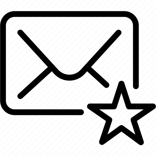 access, bookmark, collection, communication, creative, easy, email, envelope, favorite, favorite-mail, future, grid, highlight, important, interface, key, letter, like, line, mail, message, save, shape, sort, sorting, star icon