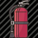 fire, extinguisher, safety, spray, emergency