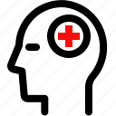 head, health, hospital, medical icon
