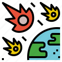comet, cosmic, damage, meteor, meteorite icon