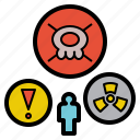 danger, harmful, hazard, poison, risk icon