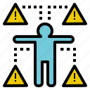 danger, hazard, insecurity, risk, warning icon