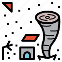 disaster, gale, hurricane, storm, tornado icon