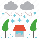 blizzard, cold, geohazard, snow, snowstorm icon