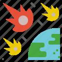 comet, cosmic, damage, meteor, meteorite icon